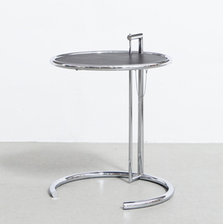 Classicon Adjustable table Adjustable table Chroom frame, zwart blad by designer:Eileen Gray