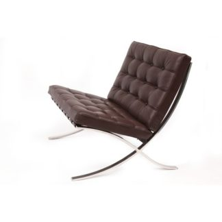 Knoll Barcelona Chair Relax Barcelona Chair Relax donker bruin Leder venezia dark brown 5 - Special edition donker bruin by designer:Ludwig Mies van der Rohe