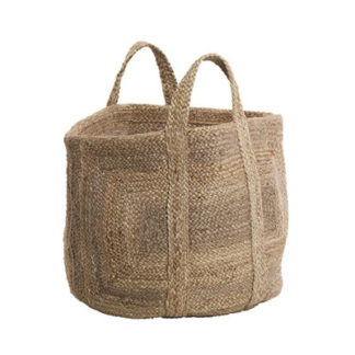 Braided Hemp Basket braided hemp basket - natural - large
