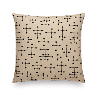 Vitra Classic Maharam Pillows small dot pattern, beige by designer:Charles & Ray Eames