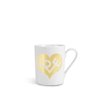 Vitra Coffee Mugs Love Heart coffe mug, love heart gold