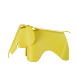 Vitra Eames Elephant small Eames Elephant small, geel by designer:Charles & Ray Eames