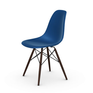 Vitra Eames plastic chair, Eames Plastic Chair DSW stoel marine blauw by designer:Charles & Ray Eames