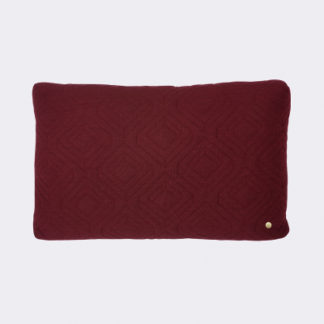 Ferm Living Quilt cushion Kussen Quilt cushion, bordeaux