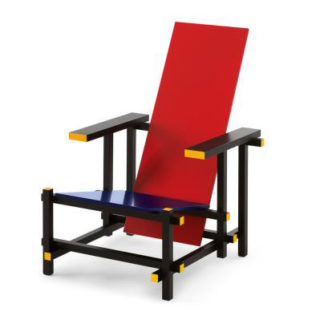 Red and Blue Red and Blue, beukenhout gelakt: geel, rood, blauw en zwart by designer:Gerrit Thomas Rietveld