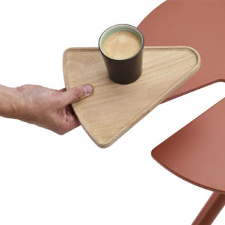 Extremis Table tray for Bistroo bistroo table tray - teak by designer:Dirk Wynants