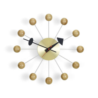 Vitra Wall Clocks Ball Clock, cherrywood