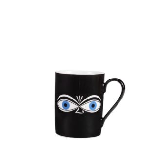 Vitra Coffee Mugs Eyes coffee mug, eyes blauw by designer:Alexander Girard