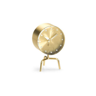 Vitra Desk Clocks tripod clock, messing