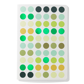 Vitra Dot Notebook A5 dot notebook, A5 greens by designer:Hella Jongerius