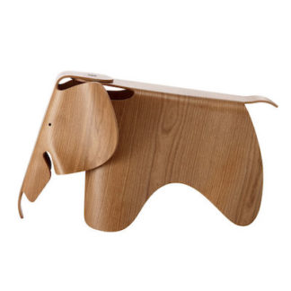Vitra Eames Elephant Eames Elephant Plywood, Amerikaans kersen by designer:Charles & Ray Eames