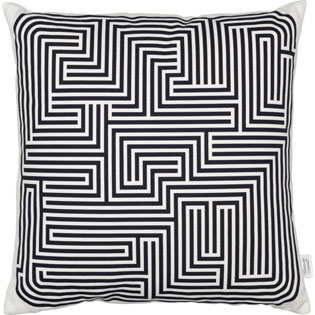 Vitra Graphic Print Pillows maze kussen, zwart by designer:Alexander Girard