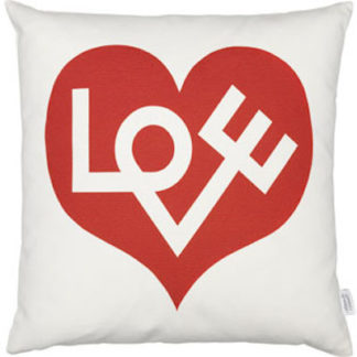 Vitra Graphic Print Pillows love heart, rood by designer:Alexander Girard
