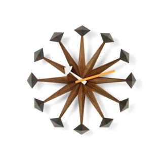 Vitra Wall Clocks polygon clock, walnotenhout