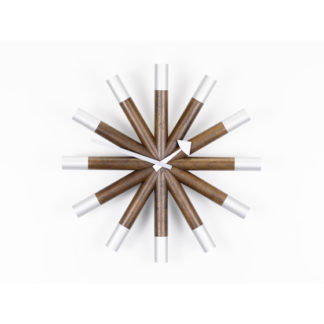 Vitra Wall Clocks wheel clock, walnotenhout