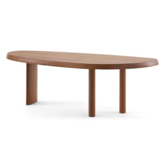 "Table en forme libreTafel ""Table en forme libre"", massief mahonie"