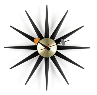 Sunburst Clocksunburst clock, zwart/messing