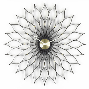 Sunflower Clocksunflower clock, zwart/messing