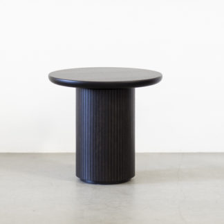 Moon Lounge Table - RoundMoon Lounge Table - Round, zwart/bruin gebeitst met matte finish