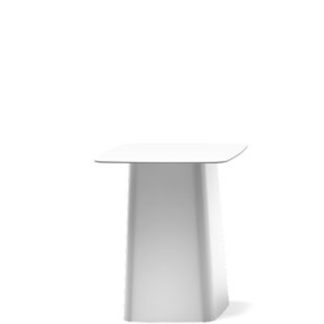 Metal side tableMetal side table Medium - white hoogglanslak wit, gebogen plaatstaal