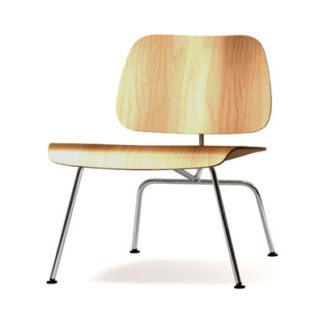 Plywood Group LCMPlywood group LCM chair - essen naturel, onderstel verchroomd