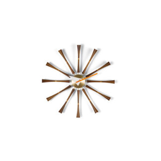Spindle ClockSpindle Clock, walnotenhout/aluminium