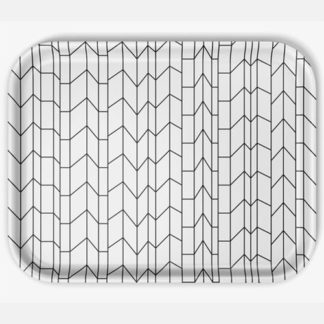 Classic Tray Graph largeClassic Tray Graph Graph large grafisch design in zwart, wit