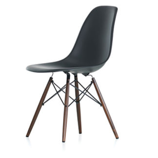 Eames Plastic Side ChairEames Plastic Side Chair stoel donker grijs