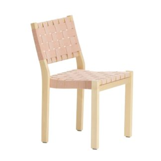 Chair 611Chair 611, naturel/red, ARTEK