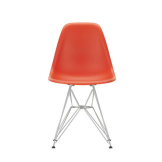 DSREames Plastic Side Chair, poppy rood