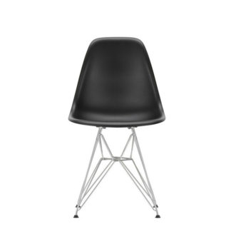 DSREames Plastic Side Chair, diep zwart