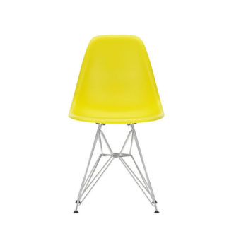 DSREames Plastic Side Chair, sunlight