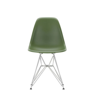 DSREames Plastic Side Chair, forest