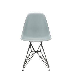 DSREames Plastic Side Chair DSR, basic dark, helder grijs