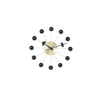 Ball Clockball clock - zwart/messing