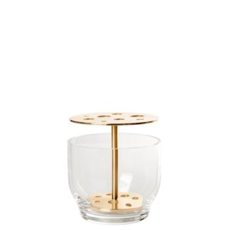 IkebanaIkebana vaas small, massief messing en glas