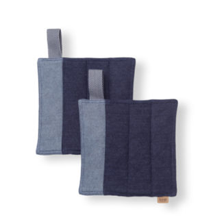 Denim Pot Holders - set of 2Denim Pot Holders - set van 2