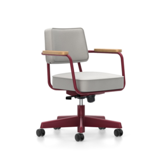 Fauteuil Direction PivotantFauteuil Direction Pivotant,Twill, Light grey, japanse red poedercoating