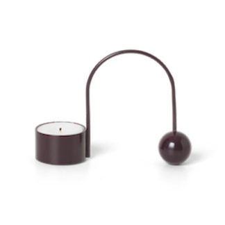 Balance Tealight Holderbalance tealight holder - dark aubergine