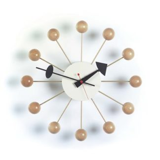 Ball Clockball clock, naturel hout