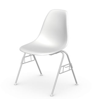 Eames plastic side chairEames Plastic Side Chair stoel wit Stoelen beschikbaar voor verhuur: prijs 5 €/dag Refurbished : 160 €/stoel (20 stuks beschikbaar)