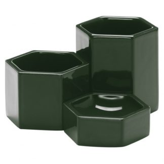 Hexagonal ContainersHexagonal Containers, Dark green