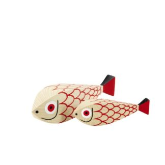Wooden Doll Mother Fish & Childwooden doll, mother fish & child