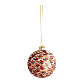 Christmas Baublechristmas bauble - strokes red - ø8 cm